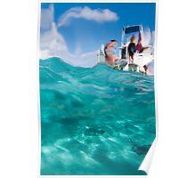 Stingrays under the boat Poster