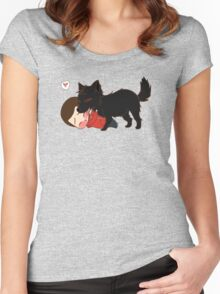 Alpha Kisses Women's Fitted Scoop T-Shirt
