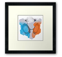 Companion Cube - Gel Splat! Framed Print
