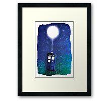 Doctor Who ~  Flying Tardis Framed Print