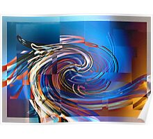Twirls and tiles Poster