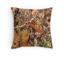 Fall Hunter's Camo Throw Pillow