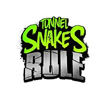 "FALLOUT 3 - ""Tunnel Snakes Rule"" Cool Typography Videogame T-Shirt Design by doughballdesign"
