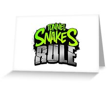 "FALLOUT 3 - ""Tunnel Snakes Rule"" Cool Typography Videogame T-Shirt Design Greeting Card"