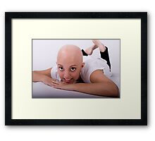 "Hey Australia.... support ""Shave for a Cure"" any way you can!!! Framed Print"