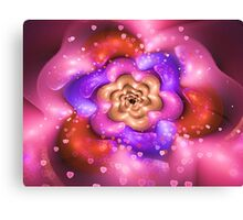Days of Hearts and Flowers Canvas Print