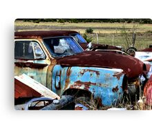 Rusty Blue    ( BoneYard Series ) Canvas Print