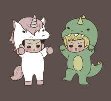 Dinosaurs vs. Unicorns Baby Tee