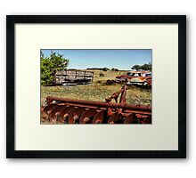 Tossed Aside ( BoneYard Series )  Framed Print