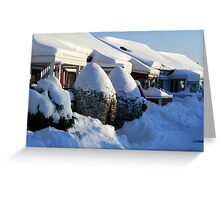 Snow Winter in Sweden Greeting Card