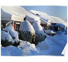 Snow Winter in Sweden Poster