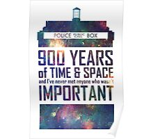 900 Years of Time and Space Poster