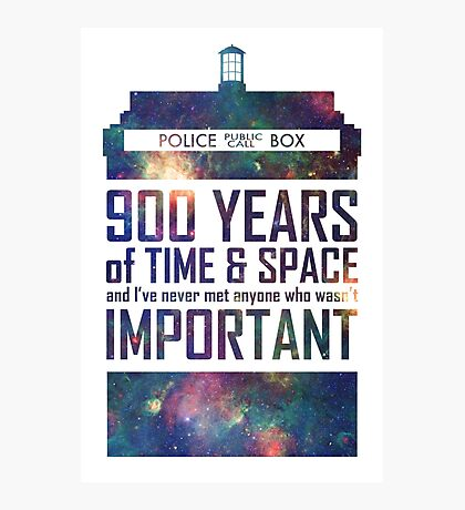900 Years of Time and Space Photographic Print