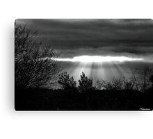 The Last Rays! Canvas Print
