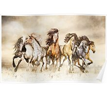 Galloping Horses - The Magnificent Seven Poster