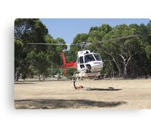 Firebomber Helicopter Canvas Print