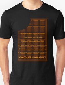 Chocoholic T Shirt With Giant Bar Of Easter Chocolate T-Shirt