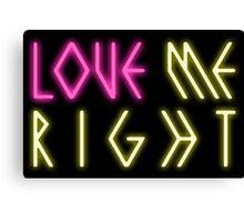 EXO 'Love Me Right' Logo Canvas Print