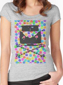 Split and Crossbones (Multi-vans) Women's Fitted Scoop T-Shirt