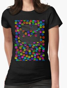 Split and Crossbones (Multi-vans) Womens Fitted T-Shirt
