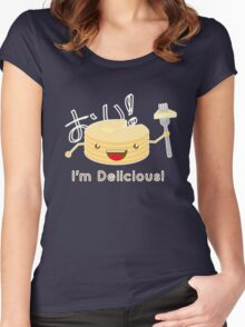 Pancakes are delicious! (brighter colors) Women's Fitted Scoop T-Shirt