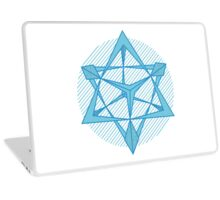 Pretty Patterned Pyramids in Blue Laptop Skin