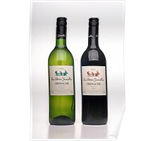Two bottles to fill five glasses Poster