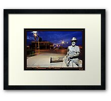 Hannan St. Guard Framed Print