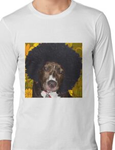 Psychedelic Pitbull Long Sleeve T-Shirt