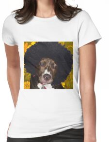 Psychedelic Pitbull Womens Fitted T-Shirt