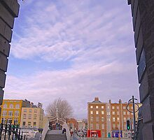 Crossing  the Halpenny bridge -Dublin by Ferdinand Lucino