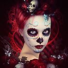 Sugar Doll Red Dia De Muertos by Shanina Conway