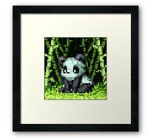 Pixel Panda Framed Print