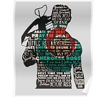 The Walking Dead - Daryl Silhouette Quotes Poster