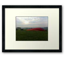 Sunrise Balloon Flight Framed Print