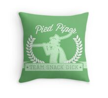 Pied Piper - Team Snack Dick Throw Pillow