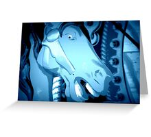 Horsey Face Greeting Card