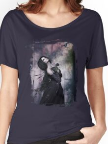 Black Rose ~ Gothic Art Women's Relaxed Fit T-Shirt