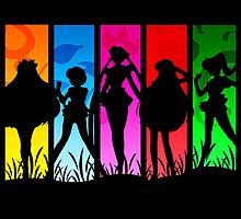 Pretty Guardian Sailor Moon - All the Sailors by TylerMellark