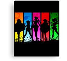Pretty Guardian Sailor Moon - All the Sailors Canvas Print