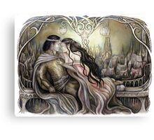 King and his queen Canvas Print