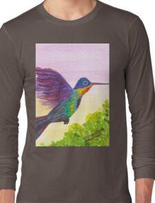 Rainbow Hummingbird Long Sleeve T-Shirt