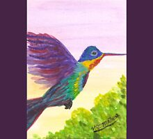Rainbow Hummingbird Unisex T-Shirt