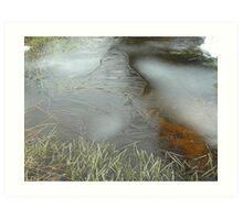 frozen ditch! Art Print