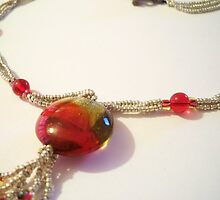 Cherry Lime Pie Necklace by BeauxButtons