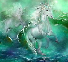 Unicorns Of The Sea by Carol  Cavalaris