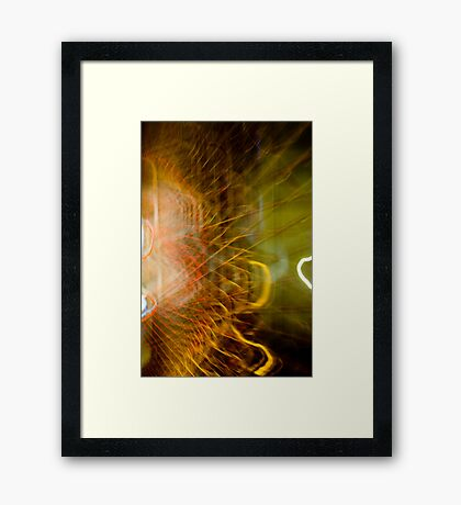 Electric Web Framed Print