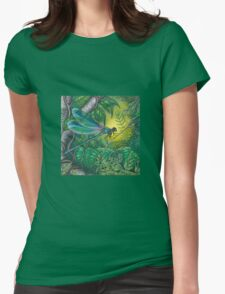 """""""Dragonfly Dreaming"""" Womens Fitted T-Shirt"""
