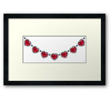Pretty Woman Ruby Necklace Framed Print