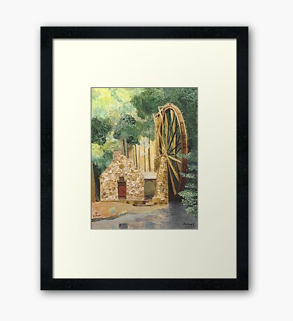 Old Mill at Berry College Framed Print